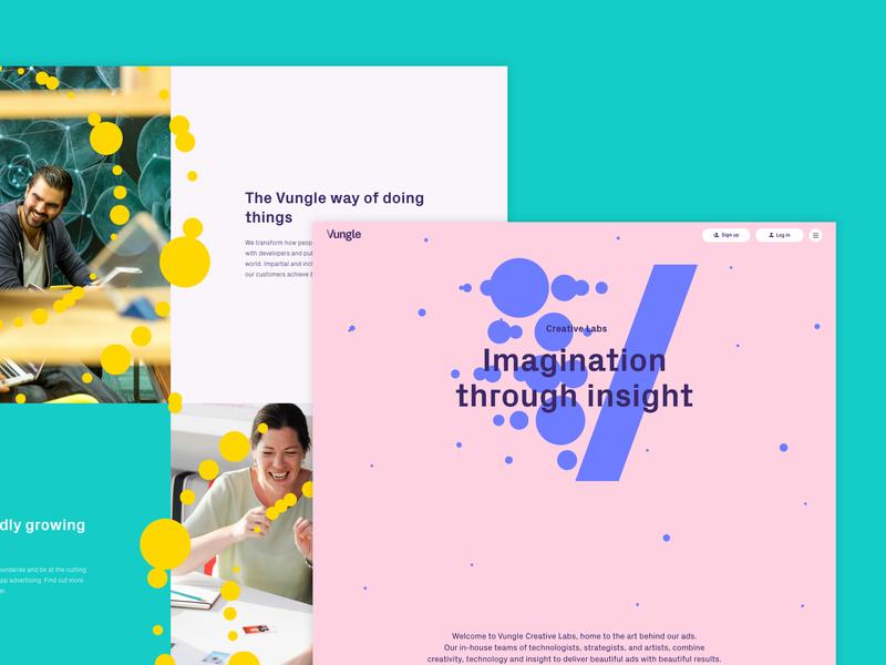 Vungle.com - Creative Labs website ui web ux design