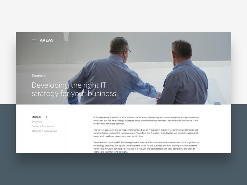Aveas.co.uk - Strategy website ui web ux design