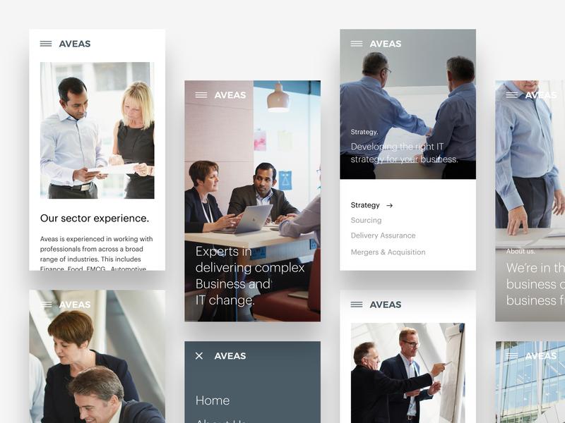 Aveas.co.uk - Mobile Screens website ui web ux design