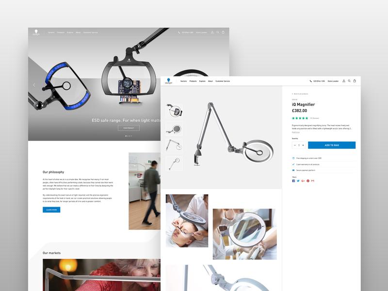 daylightcompany.com - Designs ecommerce website ui web ux design
