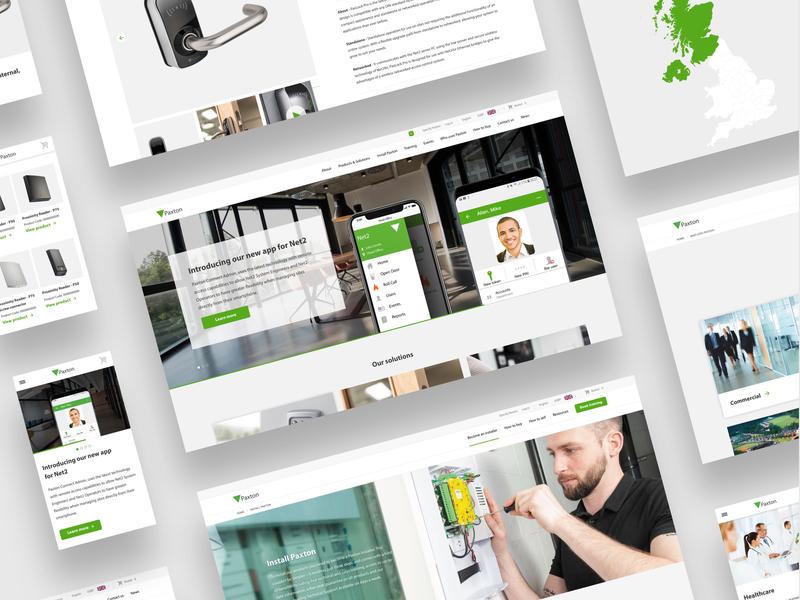 Paxton - Web Design ecommerce website web design