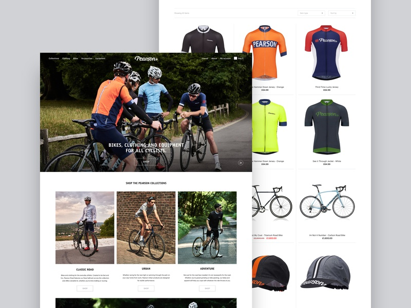 Pearson1860.com - eCommerce Design ecommerce website ui web design