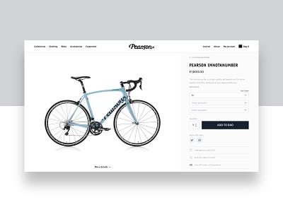 Pearson1860.com - Product Page ecommerce website ui web design