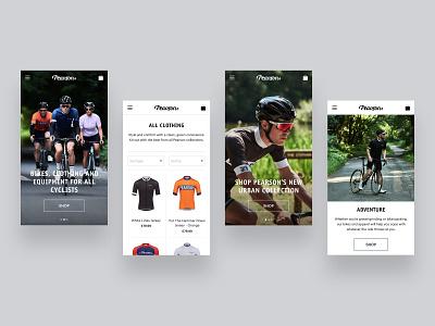 Pearson1860.com - Mobile design website ui web ux