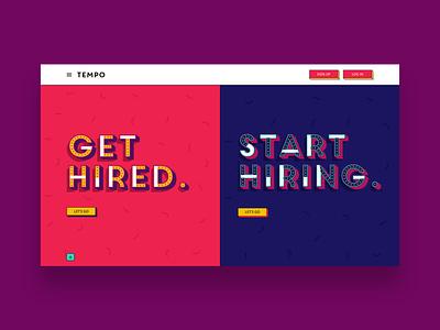 heytempo.com - Homepage typography website ui web ux design