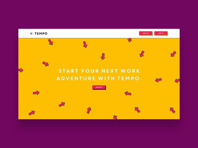 heytempo.com - Sign Up Call-to-action animation website ui web ux design