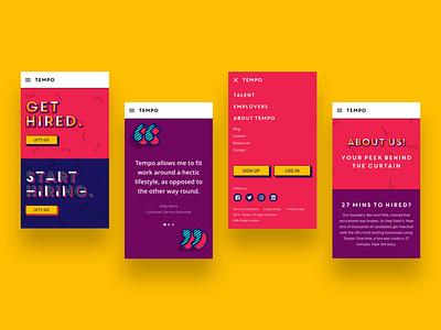 heytempo.com - Mobile website ui mobile web ux design