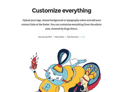 Billo Portfolio Theme wordpress portfolio theme design artist graphic visual