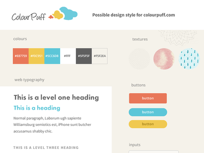 Style Tile ui web design style tile