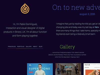 New Portfolio roboto css html layout dark redesign website portfolio