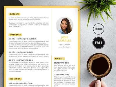 Orant - free resume template for Word fancy resumes free resume job application resume resume design curriculum vitae creative resume resume template