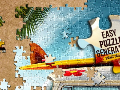 Easy Puzzle Generator puzzle puzzle effect photoshop layer smart object jigsaw