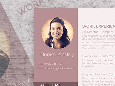 Photo Resume Template for FREE