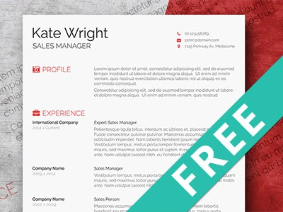 Free Minimalist Resume Template By Hertzel - Dribbble