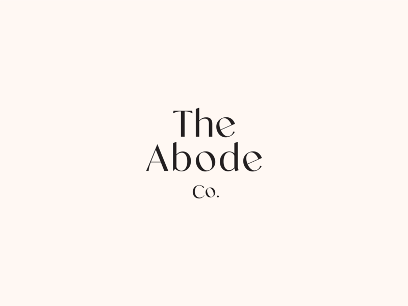 The Abode Co. brand identity brand design clean type vector print design logo branding typography design
