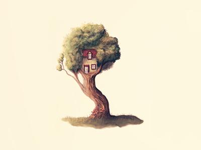 Neighbourhood 3 illustration drawing tree treehouse neighbourhood