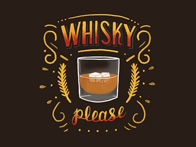 Whisky Please whisky whiskey lettering handlettering typography