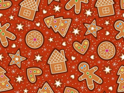 Doodle Gingerbread Pattern