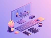 Isometric workplace concept