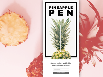 PPAP : Pineapple Pen Subscribe Page