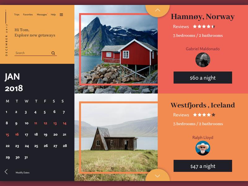Rentings sketch web concept design ui