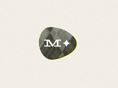 Logo Fabricated retro vintage classic contemporary argyle brown diamond precious slab serif