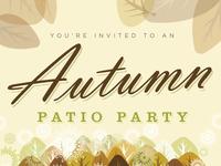 Patio party invite