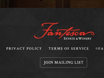 Fantesca Home winery texture footer website logo