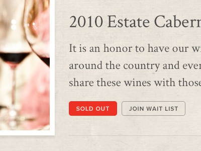 Fantesca Our Wine  interior landing page buttons thumbnail images texture serif sans serif winery