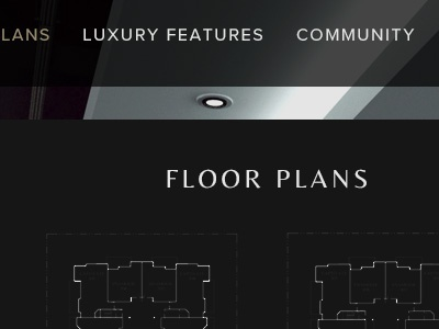 Luxury real estate classic modern condo floor plan sans serif reversed dark real estate luxury