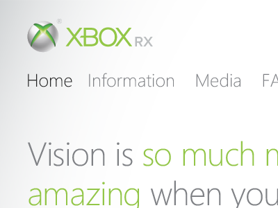 xBox RX transaction checkout product buy commerce progress bar vision optical modern float video game