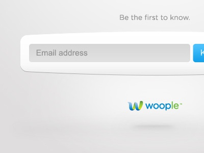 woople  video platform browser app icons coming soon identity logo floating white modern blue