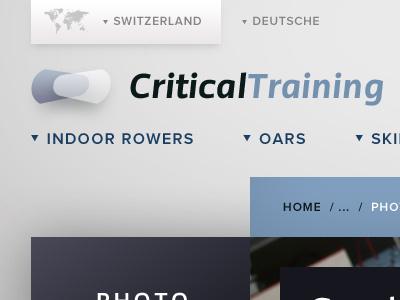 Fitness Header fitness training sport header breadcrumb sub nav map proxima nova shadow grey blue modern