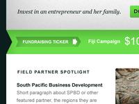 Fundraising ticker