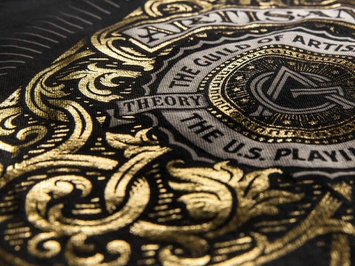 Looking Ace gold foil t-shirt tee artisan artisans theory11 playing cards simon frouws