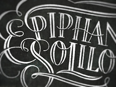 Epiphanies & Soliloquies the famous frouws epiphany soliloquy logo logotype typography type lettering script flourish vintage handmade simon frouws
