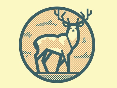 Buck Fever the famous frouws logo packaging design premium brandy icon simon frouws vintage stag deer halftone brandy label