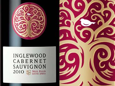 Inglewood Wine Label inglewood the famous frouws simon frouws bottle logo lettering typography type label wine wine label tree bird