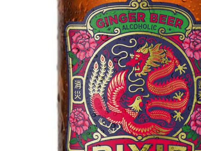 Ginger Beer the famous frouws liquor alcohol packaging lion bird ginger beer vintage chinese rose beer ginger ale china
