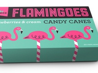 Candy Canes vintage sweets sweets simon frouws retro packaging vector logo illustration flamingo custom lettering candy canes art deco