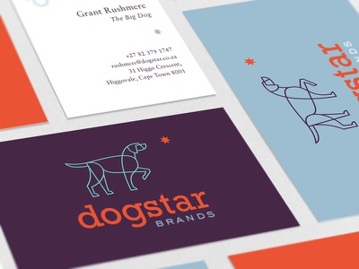 Dogstar Brands design investment card dogstar the famous frouws simon frouws business card branding logo dog star constellation