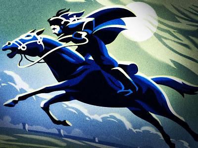 Night Rider beer packaging design dream night moon simon frouws vintage blue rider pilgrim horse illustration