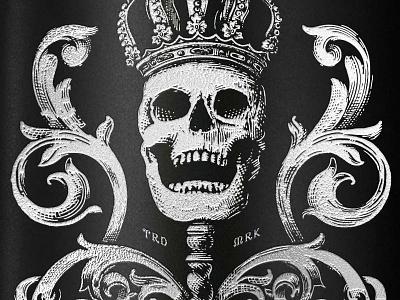 Craft Rum Brand packaging packaging design rum luxury spirits simon frouws vintage crown filigree engraving skull illustration