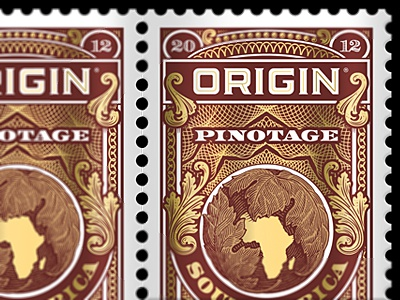Stamp of Origin the famous frouws illustration engraving woodcut woodblock letterpress vintage retro antique design typography vintage typography vintage type simon frouws design south africa south africa stamp postage guilloche money pattern