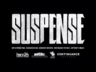 Suspense short film logo grunge design suspense type typography horror