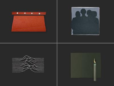 minimal post punk album cutouts