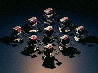 ROB army render videogame robot rob c4d 3d cinema4d super smash bros
