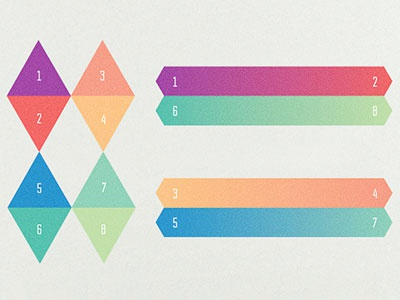 Colors and gradients for Om lab identity project