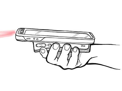Scan-o-rama! procreate context scenario illustration scanner