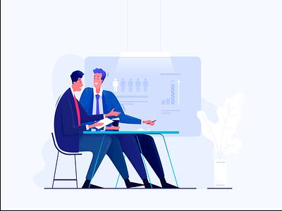 Illustration for a leadership Coaching Company vector organisation enterpreneur leader coaching leadership website illustration